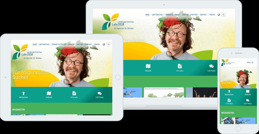 Landesgartenschau Lahr 2018 Responsive Startseite